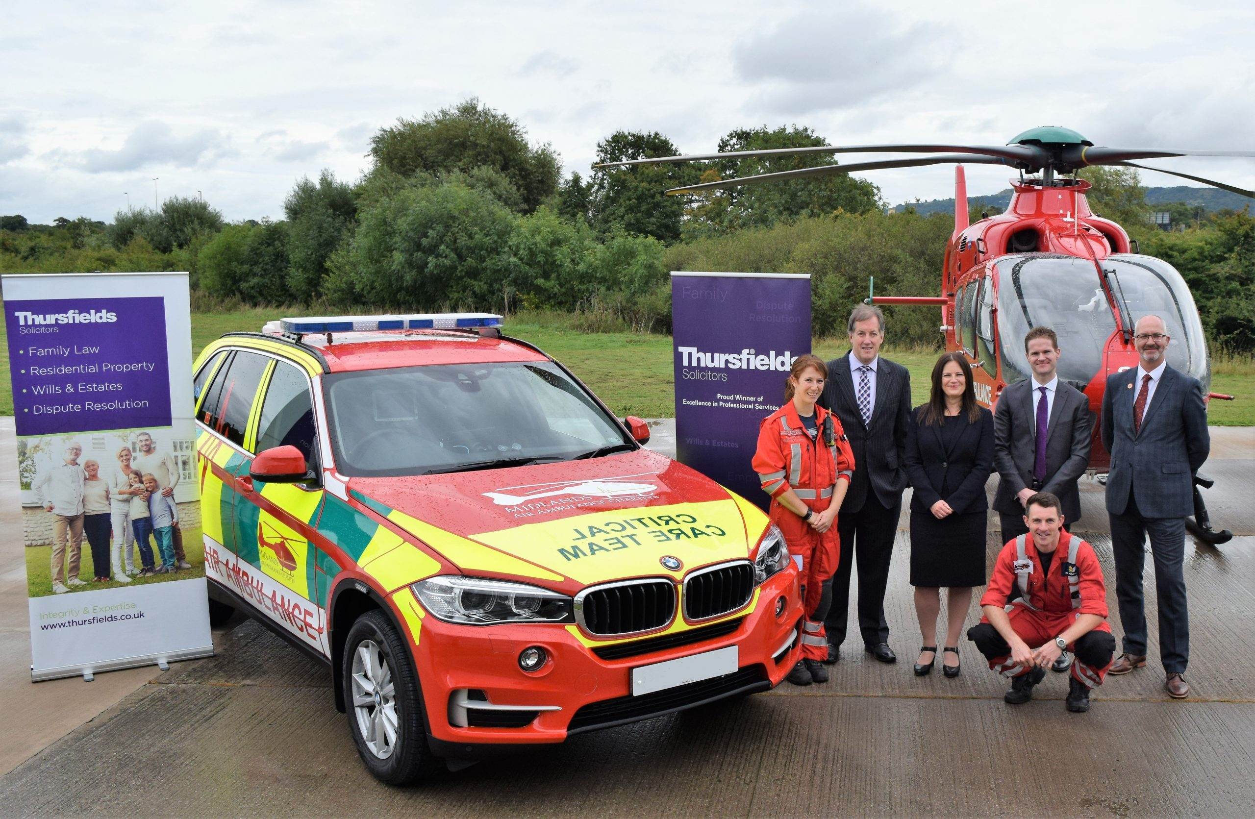 Thursfields and Midlands Air Ambulance