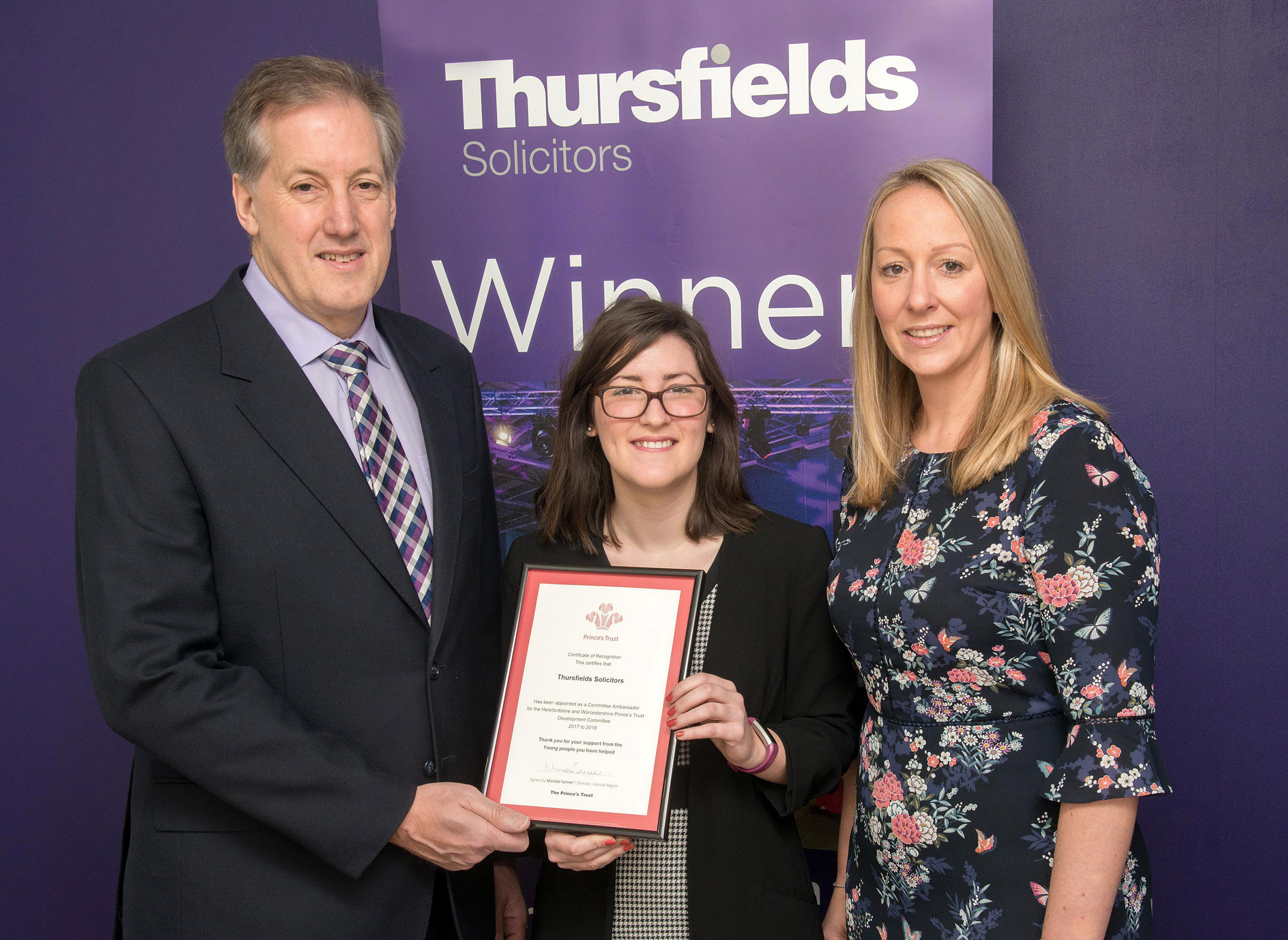 Thursfields Solicitors Winners Princes Trust