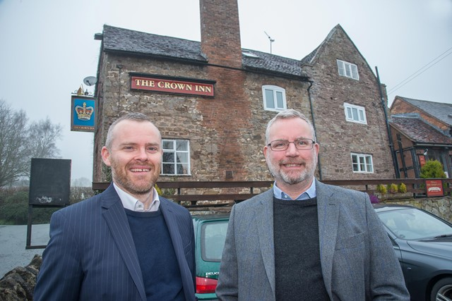 Thursfields Crown Inn 1. Tony Gibb (left) and Andrew Cornthwaite (2) WEB