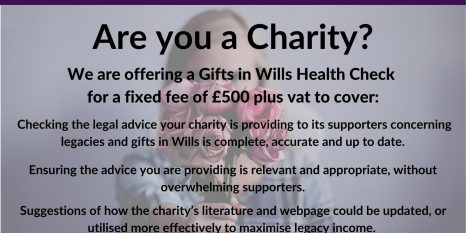 Charity Gifts in Wills Health Check flyer