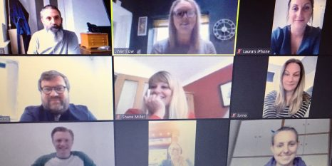Thursfields Staff working from home on video call