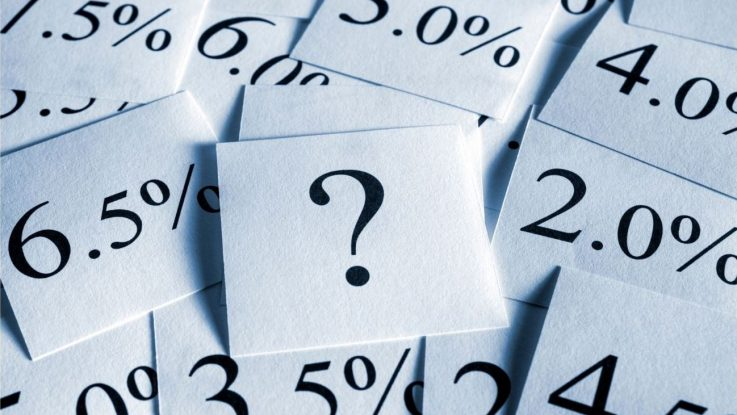 Percentages and question mark photos